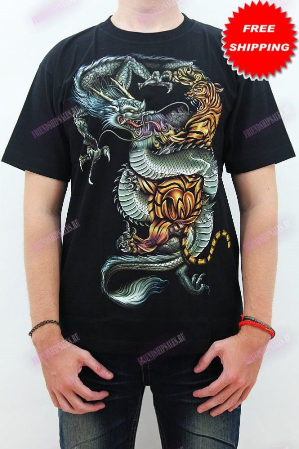 Rock Chang Glow in The Dark t-shirt fighting tiger and the ...