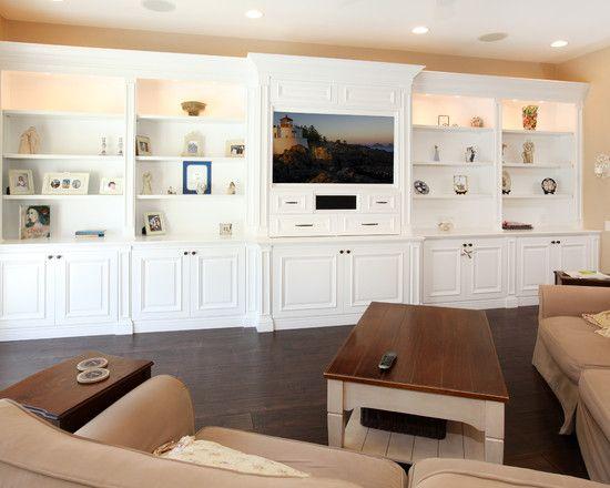 , Tremendous Family Room Design Also Elegant White Built
