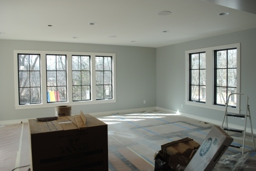 Stained Windows White Trim Bright Wall Colour For The