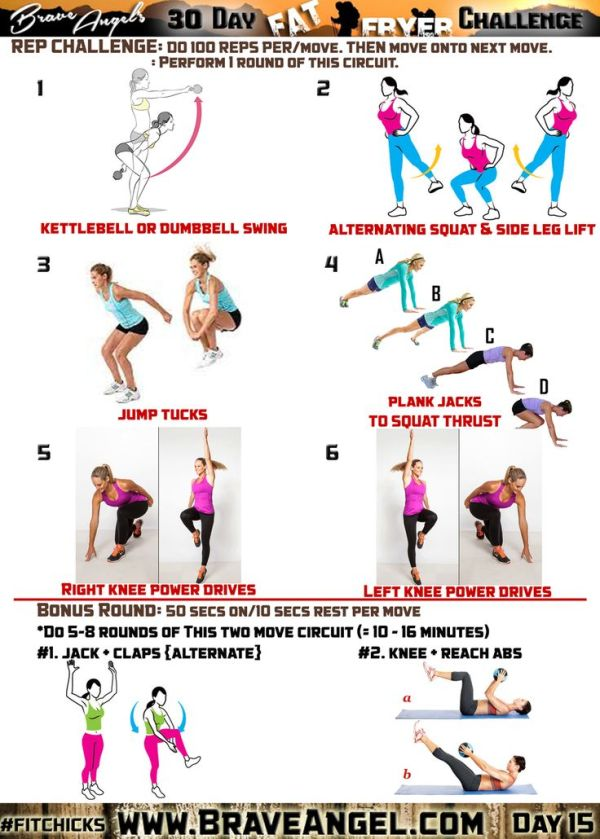 Day 15 fitchicks 30 Day Fat Fryer Challenge Squat