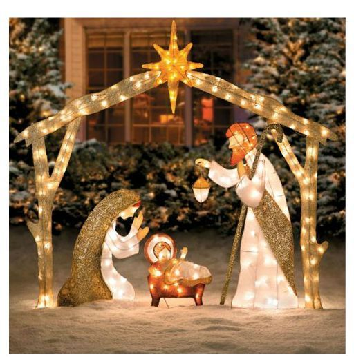 Outdoor Christmas Nativity Sets Lighted Woodworking