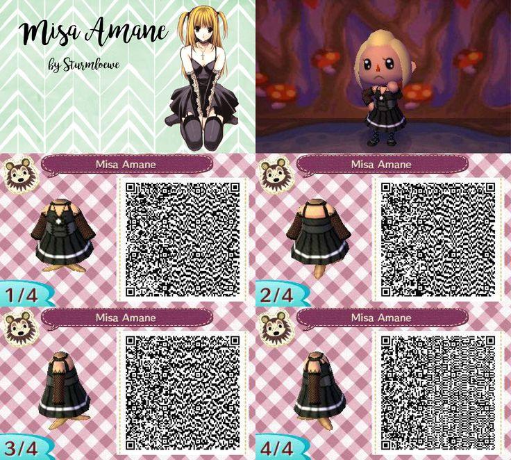 Animal Crossing New Leaf Qr Codes Black Dress