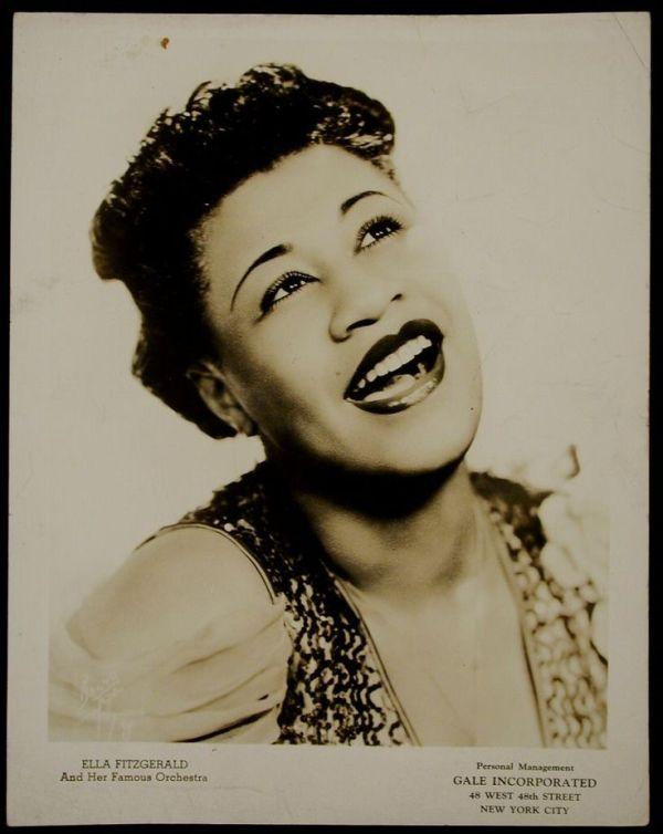 Ella Fitzgerald the first female jazz vocalist that i fell ...
