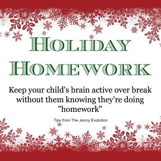 Give Your Kids Holiday Homework Without Them Knowing The