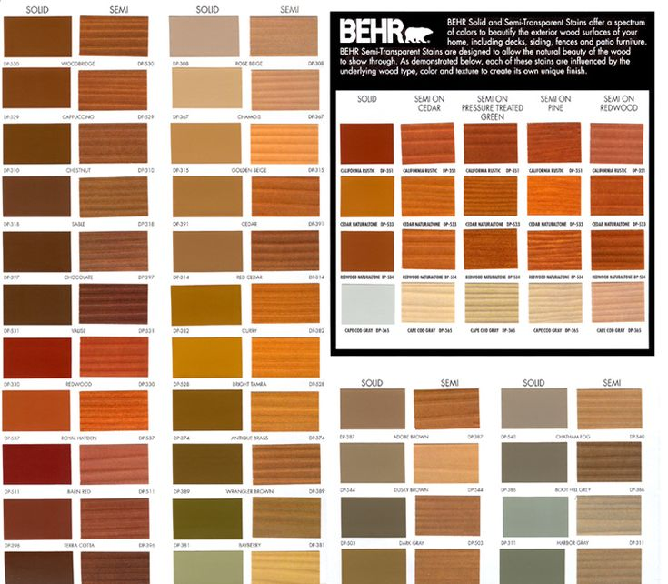 behr deck stain colors chart colours pinterest on behr paint chart id=66398