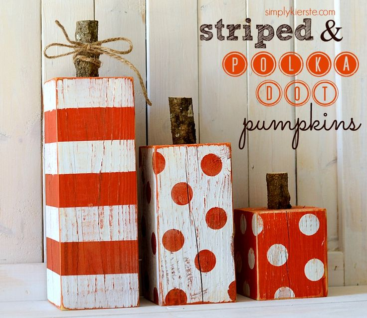 4×4 striped & polka dot pumpkins