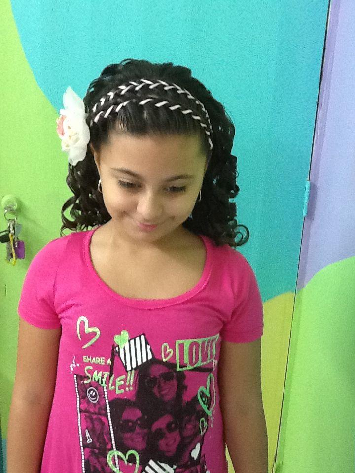 Trenza Con Liston Y Chinos Peinados De Nia Pinterest