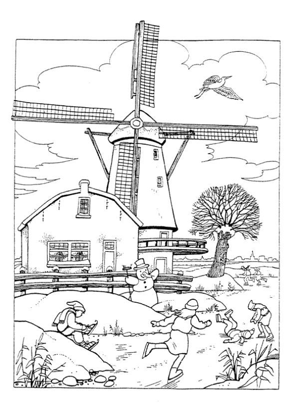 37 Best Images About Holland Coloring Pages On Pinterest
