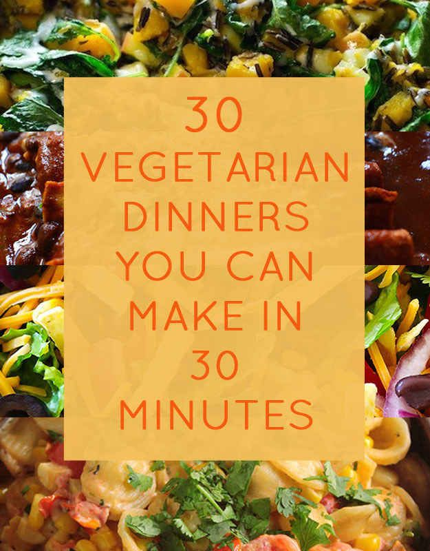 30 Quick Dinners With No Meat – super tasty meal ideas to decrease your meat consumption for #MeatlessMonday! Or anytime, if youre