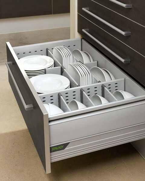 smooth surfaces and simple hardware to make cleaning faster, and built in, custo