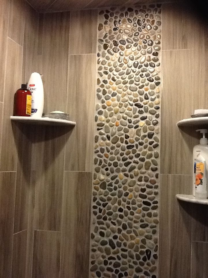 Glazed Bali Ocean Pebble Tile Shower Wall Accent Found At