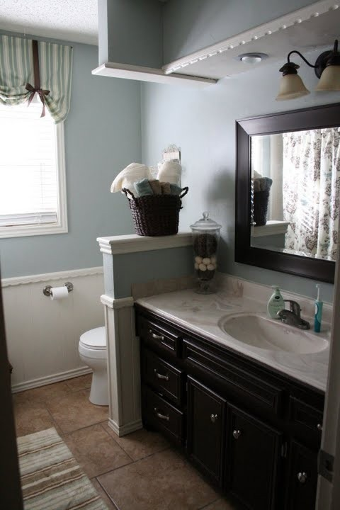 Like Half Wall To Hide Toilet Baths Pinterest