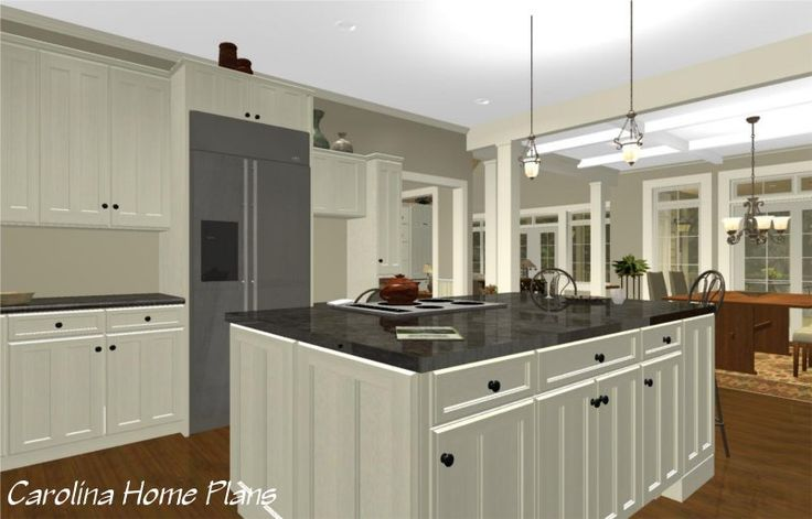This Large Open Layout House Plan Features A Spacious Open