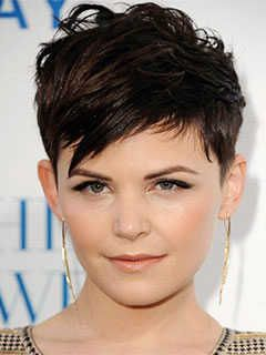 Short Haircuts For Heart Shaped Faces Fringed Pixie Cut