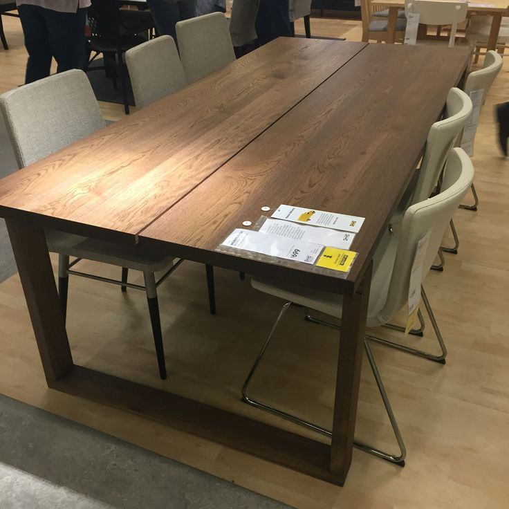 Morbylanga Dining Table Veneer Oak 700 IKEA Home