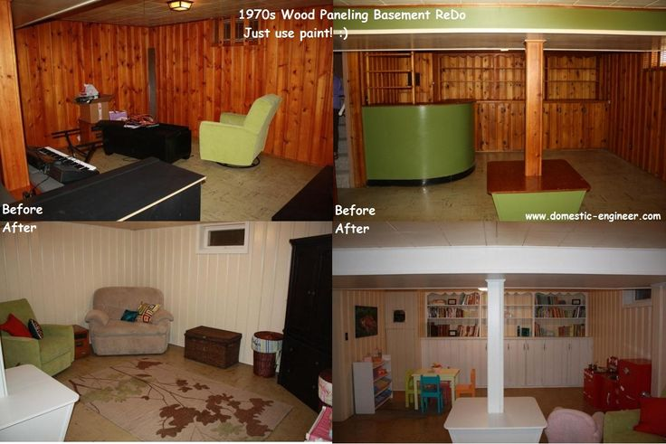 before and after basement painting half wall wood on paint for basement walls id=44240