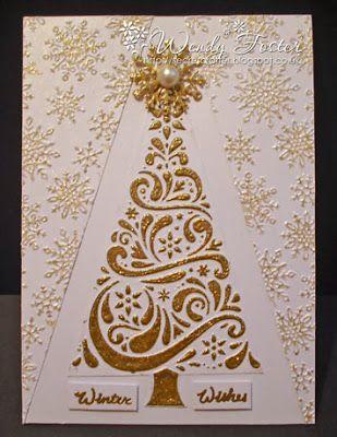 Embossing Folder Trees And Christmas Trees On Pinterest