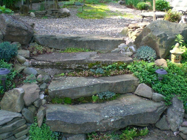 82 best images about hillside stone steps on pinterest on best rock garden front yard landscaping trends design ideas preparing for create id=49006