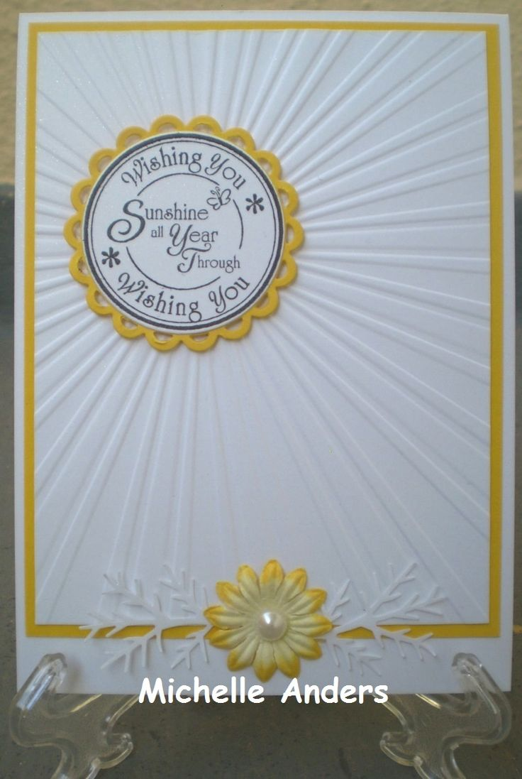 Craft Concepts Sun Rays Embossing Folder Cards By