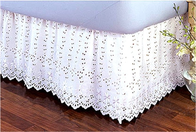 Vintage Lace Bed Skirts Product Hand Crochet Bedskirt