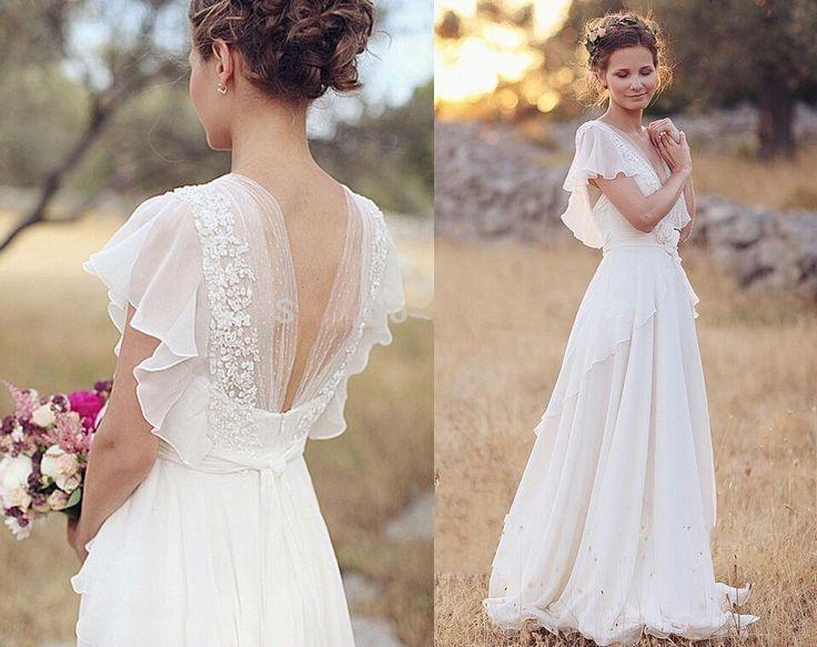 25+ Best Ideas About Chiffon Wedding Dresses On Pinterest