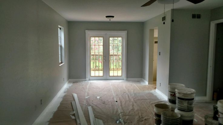 Painting With Behr Paint Walls Heath Gray N380 2 With