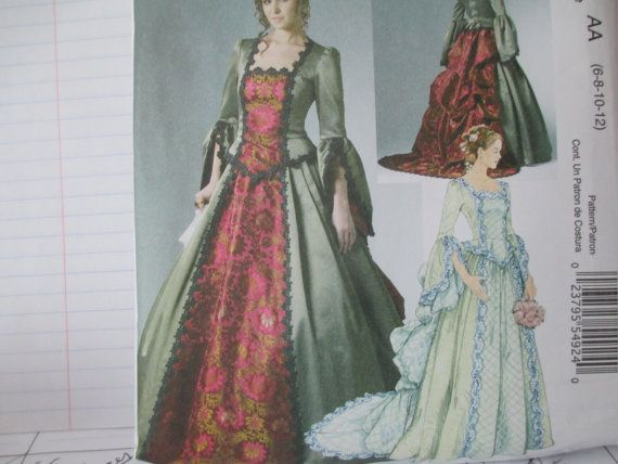 Women's Victorian Dress Sewing Pattern, McCall's 6097