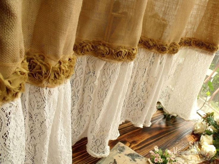 Details About 72 SHABBY Rustic Chic Burlap SHOWER Curtain