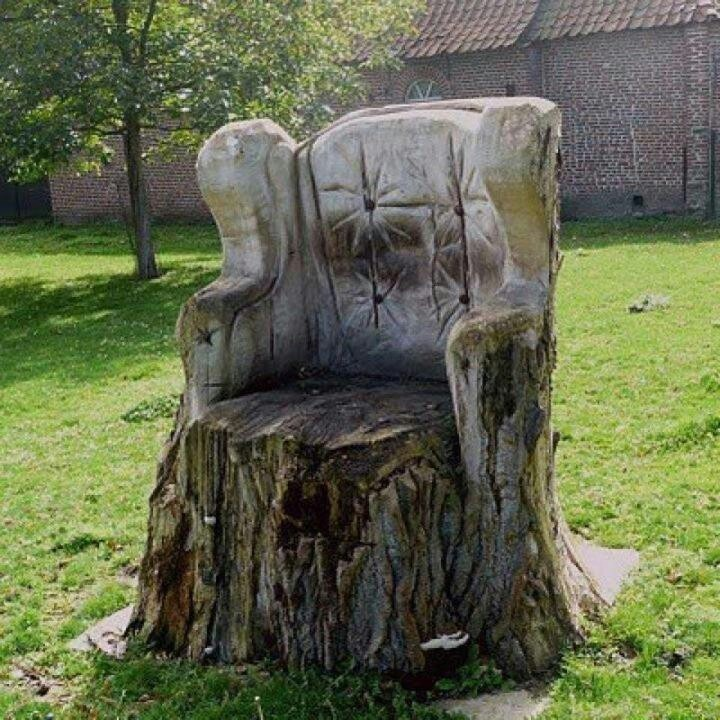 9 Best Images About Tree Stump Chairs On Pinterest