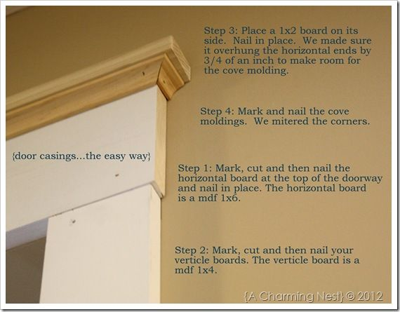 How to add casing/molding to doorways. Ive been looking for a tutorial like this