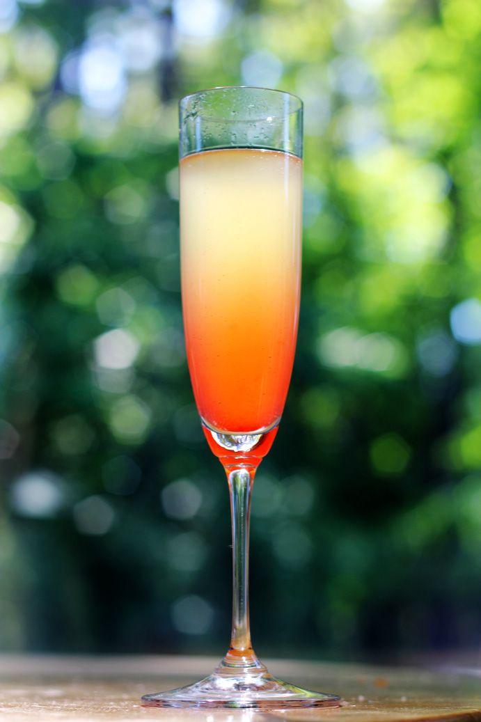 island mimosa – champagne, pineapple juice, Malibu, grenadine