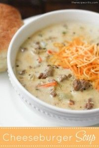 Recipe For  Cheeseburger Soup