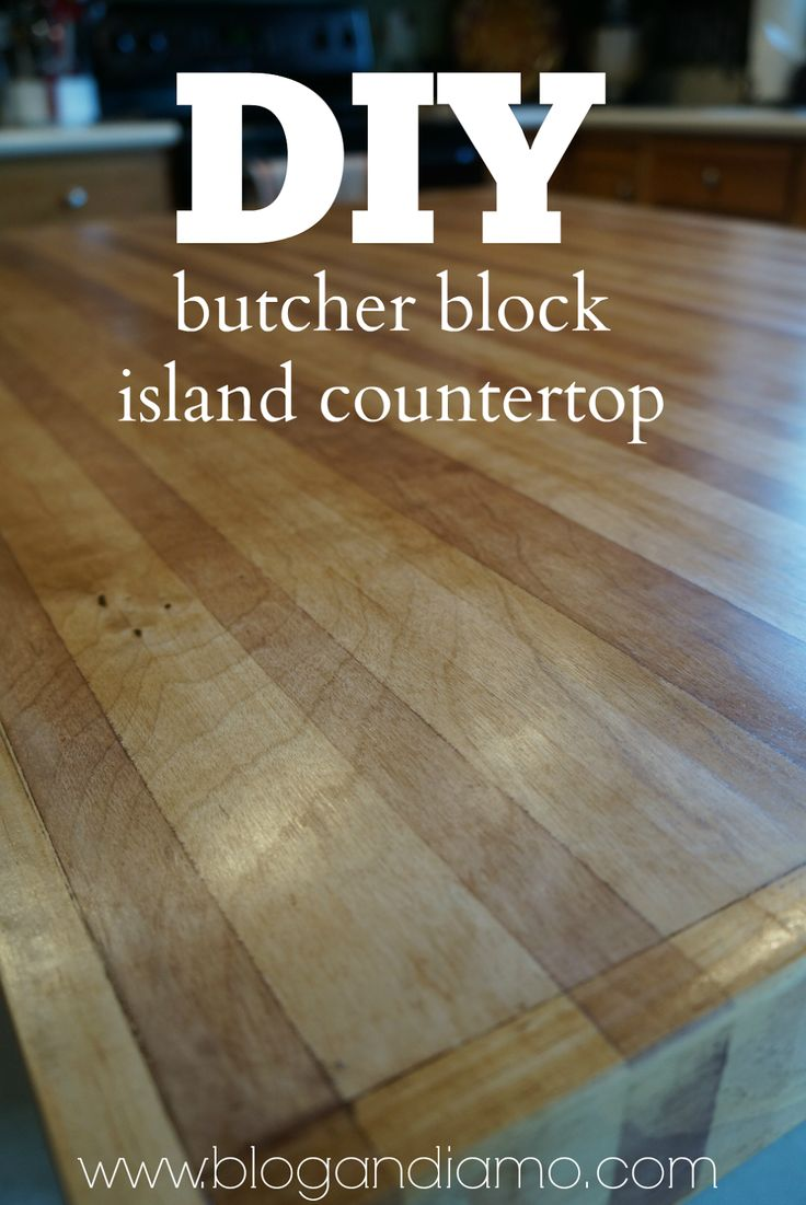 DIY Butcher Block Island Countertop Using A Sheet Of Cabinet Grade Plywood Kitchen