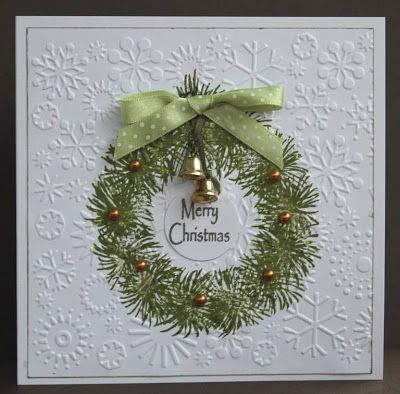 Elegant Sophisticated Handmade Christmas Card Using
