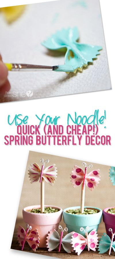 Use Your Noodle! Quick (and cheap!) spring butterfly decor from @jan issues issues issues issues issues issues issues Howard Does