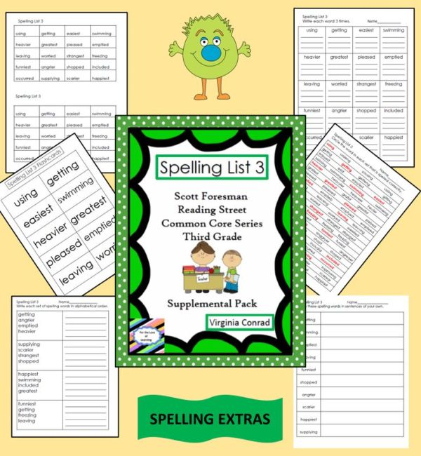 supplemental spelling materials--Reading Street Grade 3 ...