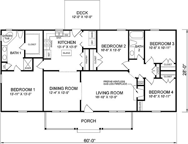 25 Best Ideas About Four Bedroom House Plans On Pinterest One Level Floor And 4