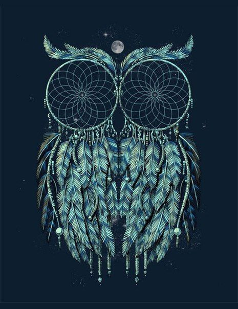 I found my next tattoo! I've been wanting a dream catcher tattoo on my thigh! And I love owls!! This is a spot on twist to what I