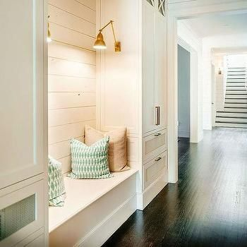 Built In Bench With Shiplap Farm House Dream