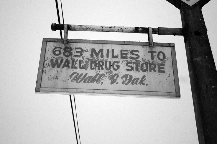 wall drug store hand lettered sign painting on wall drug id=19363