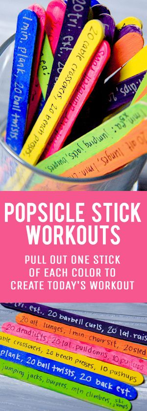 A popsicle stick workout is a fun and creative way to build a daily exercise routine that will keep you guessing!