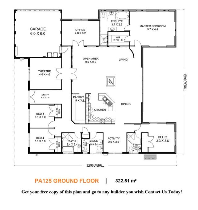 shaped house-I would convert the bedroom off the entryway into a ...