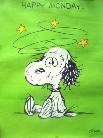 Image result for snoopy Monday again