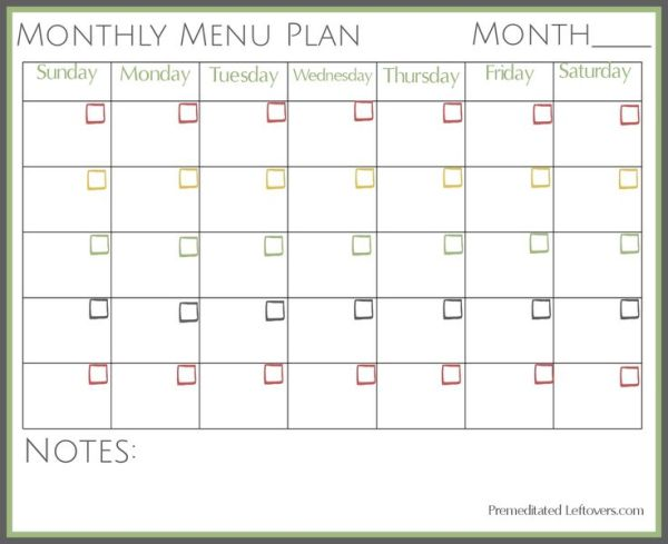 """Search Results for """"Monthly Meal Planner Template ..."""