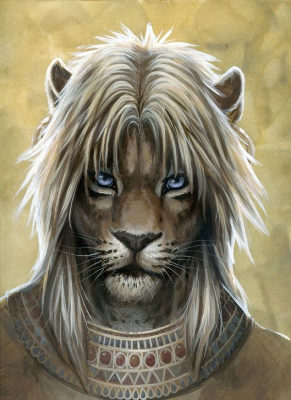 Tomb Guardian by hibbary lion tiger cat humanoid shifter ...