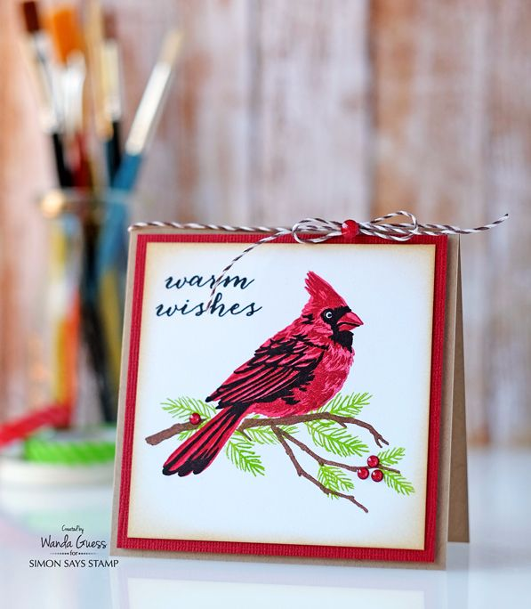 Hero Arts Layering Cardinal Stamp Set Masterpiece Box