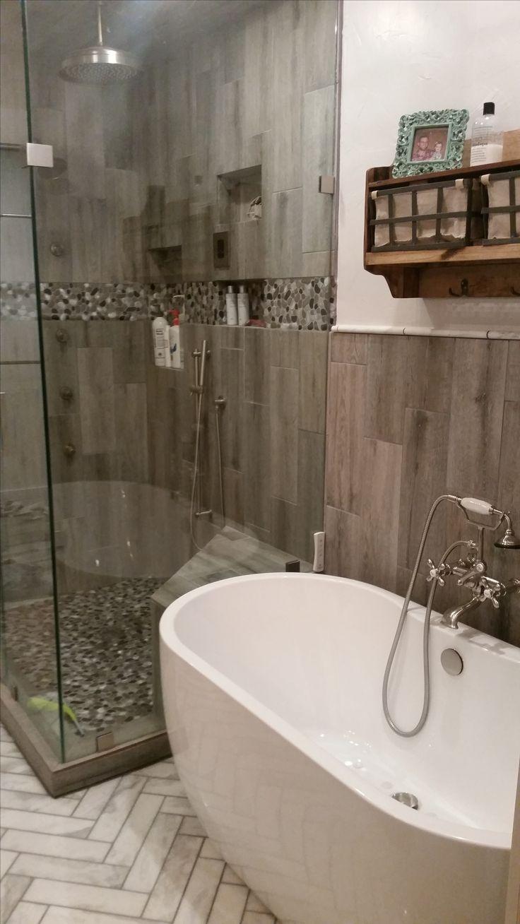 Herringbone Carerra Marble Floors Steam Shower With Body