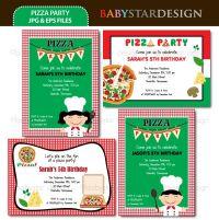 halloween pizza party invitations