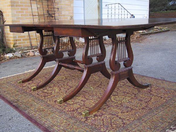 Drexel Travis Court Drop Leaf Mahogany Table Lyre Base 2 Traditional Home Decor Pinterest