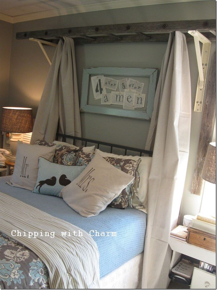 DIY Bedroom Furniture Vintage Ladder Bed Canopy Id Move